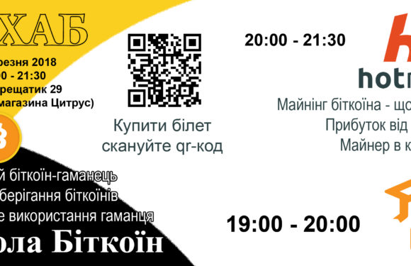 School Bitcoin in CiHUB Kyiv 03/29/2018