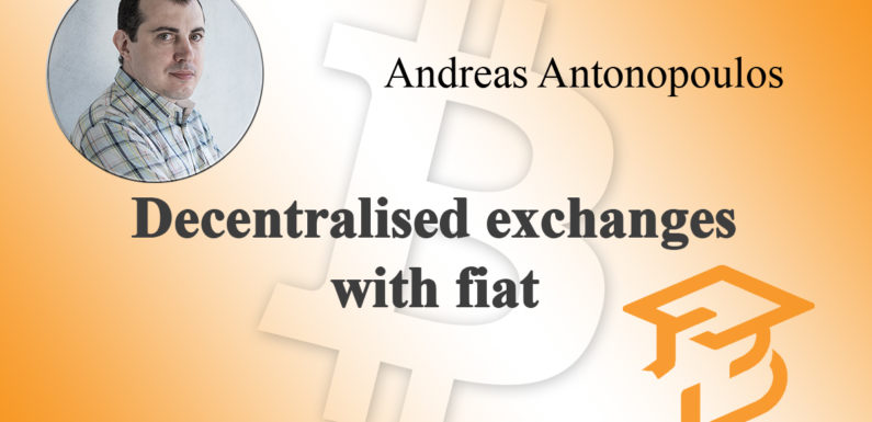 Decentralised exchanges with fiat