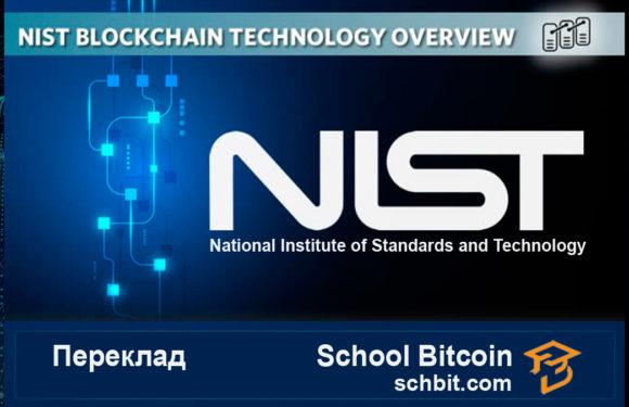 NISTIR 8202 Обзор технологии Blockchain