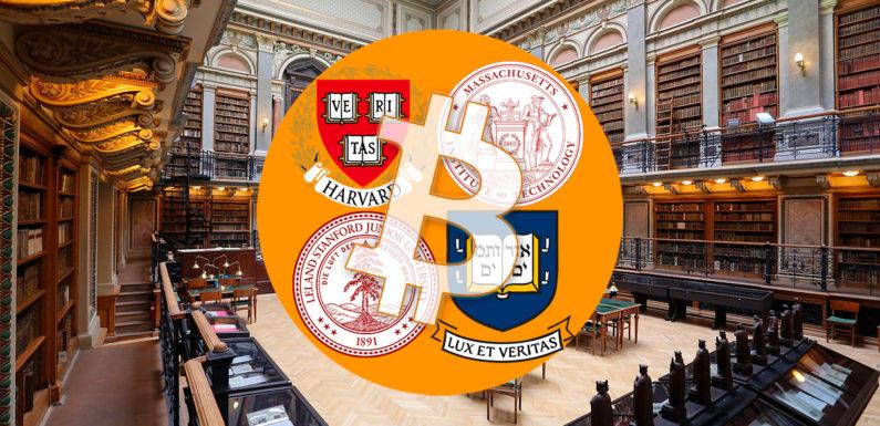 Harvard, Stanford, MIT invest in Bitcoin