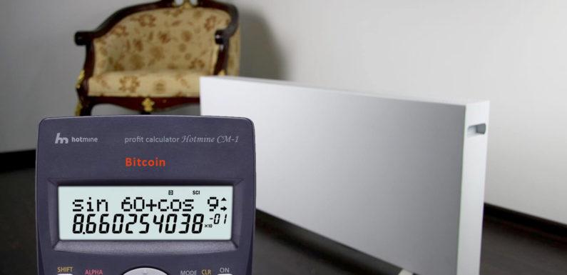 Heaters Hotmine CM-1 – lost profit calculator